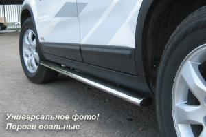 MITSUBISHI Outlander 2007-2009 Пороги труба d75х42 овал MOO-000116